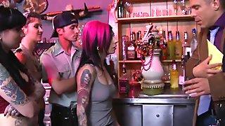 BurningAngel Tattooed and DP'd Anal Orgy
