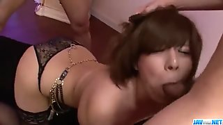 Ririsu Ayaka feels big cock in her tight hole