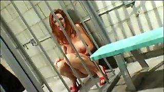 Slut in prison fucking a girl