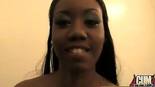 Ebony Gang bang and CUM FEEDING 22