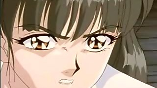 Roped anime coed gangbang