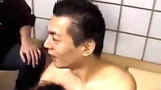 Extreme asian deep anal gangbang